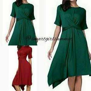 "🆕⭐""Lola"" Dark green jersey dress"